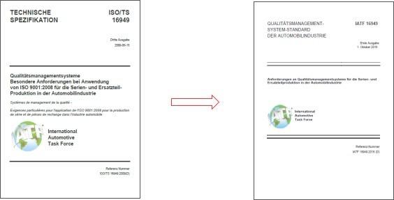 Vorgabedokumente IATF 16949