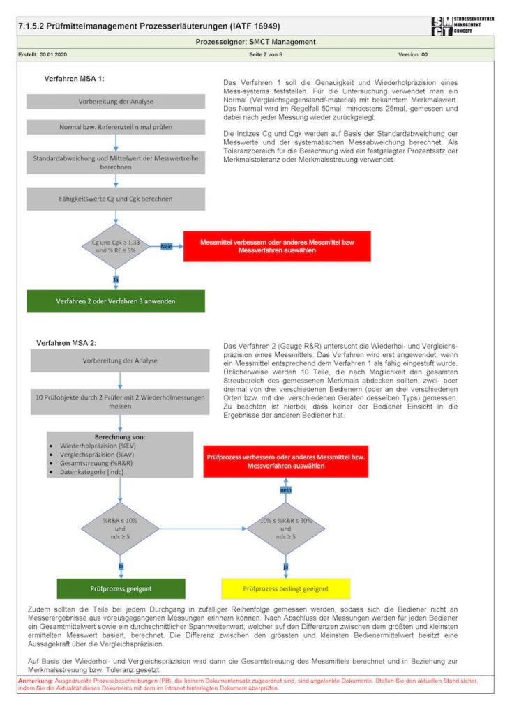 Prozessbeschreibung ISO 9001 MSA