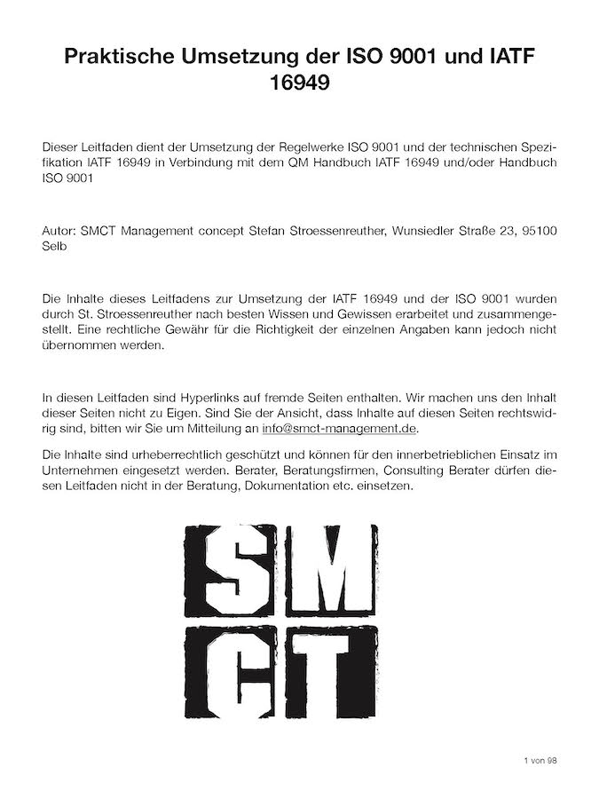 Leitfaden Umsetzung IATF 16949 ISO 9001