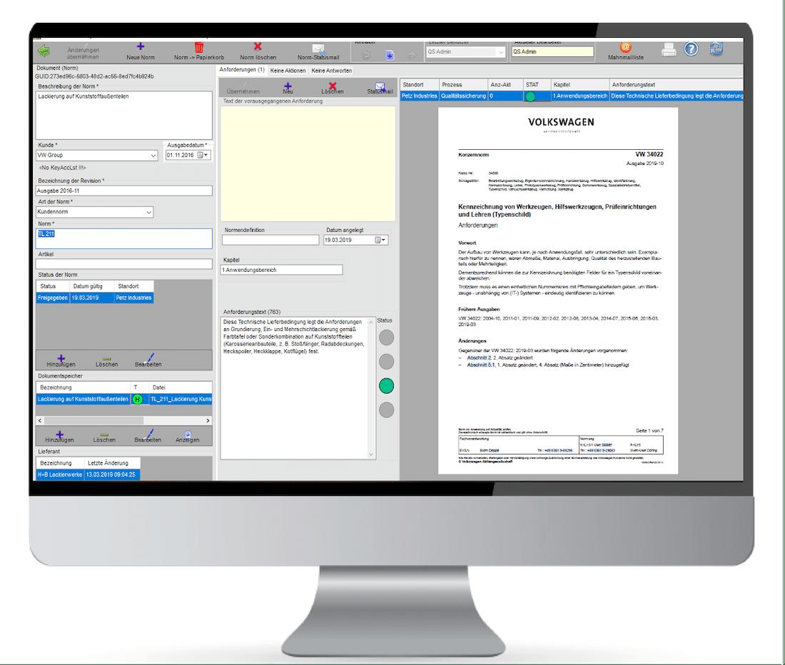 DokuMento - Kundenspezifische Anforderungen verwalten