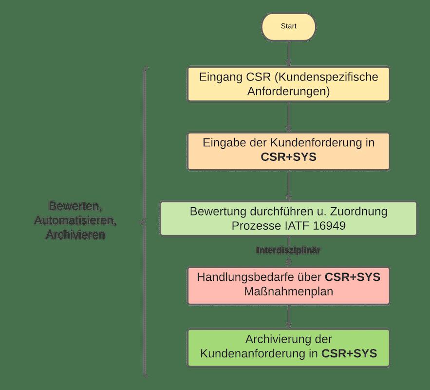 CSR+SYS Kundenspezifische Anforderungen