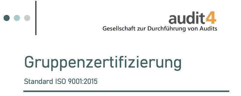 Gruppenzertifizierung ISO 9001