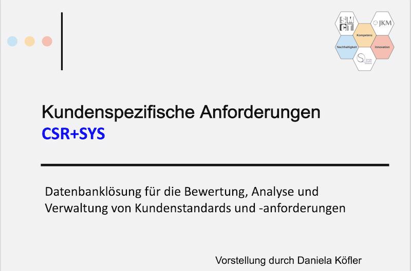 Video CSR-SYS Dokumento